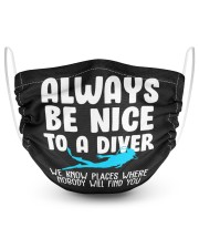 diver 2 Layer Face Mask - Single front