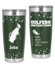 Golfers Instructions Personalized Christmas Gift 20oz Tumbler front