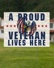 A Proud Veteran Lives Here 24x18 Yard Sign aos-yard-sign-24x18-lifestyle-front-10