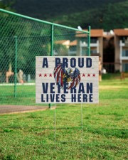 A Proud Veteran Lives Here 24x18 Yard Sign aos-yard-sign-24x18-lifestyle-front-21