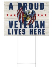 A Proud Veteran Lives Here 24x18 Yard Sign back