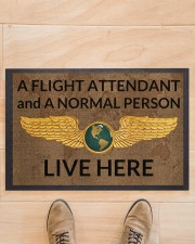 "Flight Attendant A Flight Attendant Doormat 22.5"" x 15""  aos-doormat-22-5x15-lifestyle-front-02"
