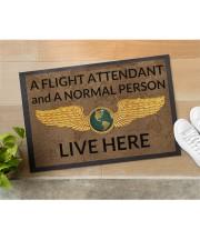 "Flight Attendant A Flight Attendant Doormat 22.5"" x 15""  aos-doormat-22-5x15-lifestyle-front-11"