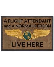 """Flight Attendant A Flight Attendant Doormat 22.5"""" x 15""""  front"""