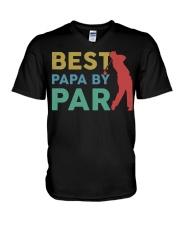 Best Papa By Par V-Neck T-Shirt tile