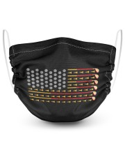 Usa flag golf balls clubs cute golfers america 2 Layer Face Mask - Single front