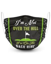 I'm On The Back Nine Golf 2 Layer Face Mask - Single front