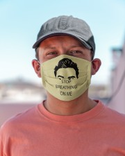 Stop Bearthing On Me Cloth face mask aos-face-mask-lifestyle-06