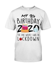18th Birthday 18 Years Old Classic T-Shirt front