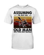Assuming I'm Just An Old Man Scuba Diving Classic T-Shirt front