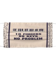 Piano 10 Fingers 88 Keys No Problem Cloth face mask thumbnail