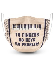 Piano 10 Fingers 88 Keys No Problem 2 Layer Face Mask - Single front