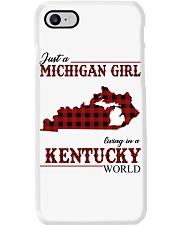 Just A Michigan Girl In kentucky Phone Case thumbnail