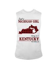Just A Michigan Girl In kentucky Sleeveless Tee thumbnail