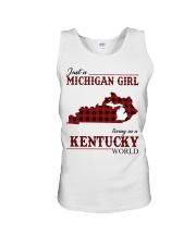 Just A Michigan Girl In kentucky Unisex Tank thumbnail