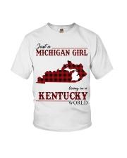 Just A Michigan Girl In kentucky Youth T-Shirt thumbnail