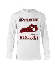 Just A Michigan Girl In kentucky Long Sleeve Tee thumbnail