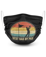 Best dad by PAR 2 Layer Face Mask - Single front