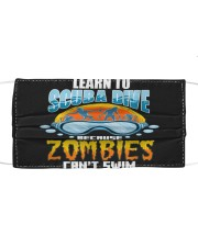 Zombies can't swim funny underwater scuba diving  Cloth face mask thumbnail