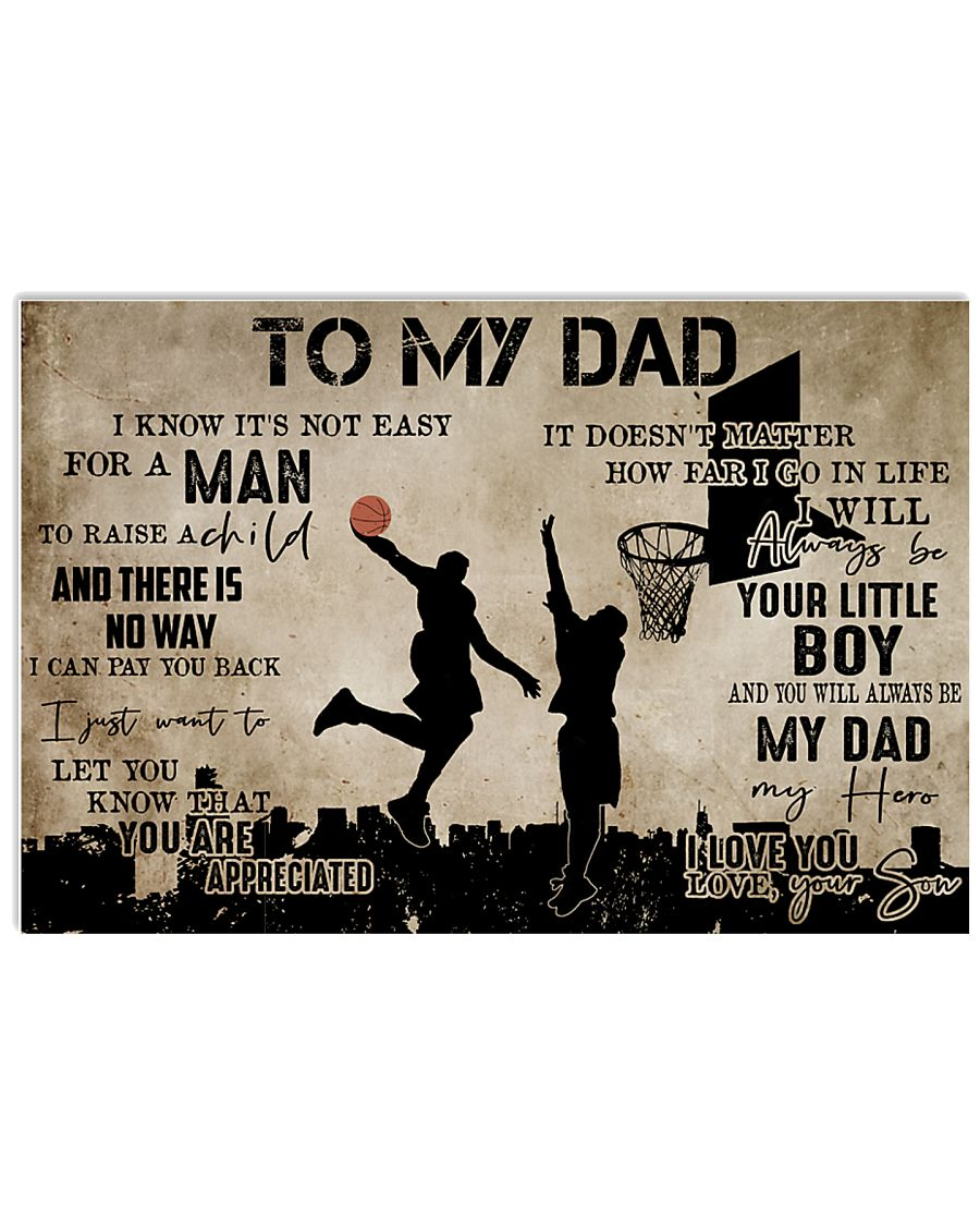 To My Dad From Son Basketball 24x16 Poster
