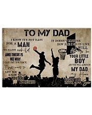 To My Dad From Son Basketball 24x16 Poster front