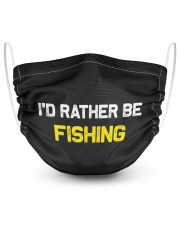 I'd rather be fishing popular funny quote 2 Layer Face Mask - Single front
