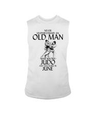 Never Underestimate Old Man Judo June Sleeveless Tee thumbnail