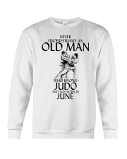 Never Underestimate Old Man Judo June Crewneck Sweatshirt thumbnail