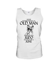 Never Underestimate Old Man Judo June Unisex Tank thumbnail