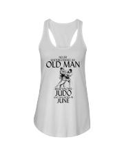 Never Underestimate Old Man Judo June Ladies Flowy Tank thumbnail