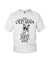 Never Underestimate Old Man Judo June Youth T-Shirt thumbnail