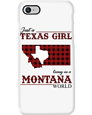 Just A Texas Girl In Montana World Phone Case tile