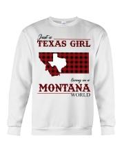 Just A Texas Girl In Montana World Crewneck Sweatshirt tile