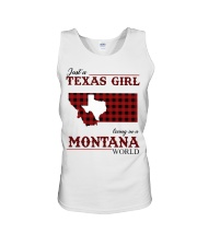 Just A Texas Girl In Montana World Unisex Tank tile