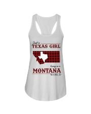 Just A Texas Girl In Montana World Ladies Flowy Tank thumbnail