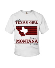 Just A Texas Girl In Montana World Youth T-Shirt tile
