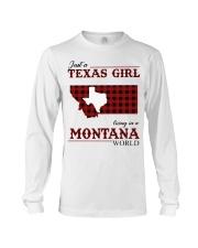 Just A Texas Girl In Montana World Long Sleeve Tee tile