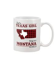 Just A Texas Girl In Montana World Mug tile