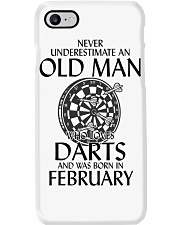 Never Underestimate Old Man Loves Darts February Phone Case thumbnail