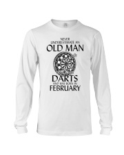 Never Underestimate Old Man Loves Darts February Long Sleeve Tee thumbnail