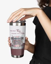 Trucker's Wife-To my wife from husband 20oz Tumbler aos-20oz-tumbler-lifestyle-front-25