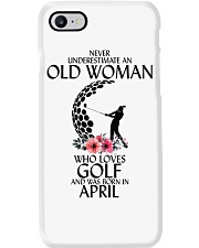 Never Underestimate Old Woman Golf April Phone Case thumbnail