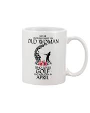 Never Underestimate Old Woman Golf April Mug thumbnail