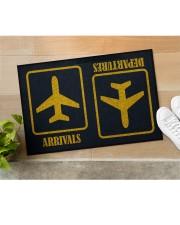 """Airplane Arrivals Departures  Doormat 22.5"""" x 15""""  aos-doormat-22-5x15-lifestyle-front-11"""