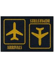"""Airplane Arrivals Departures  Doormat 22.5"""" x 15""""  front"""