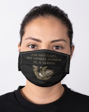 Im not lazy my spirit animal is a sloth Cloth face mask aos-face-mask-lifestyle-01