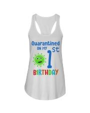 Quarantined On 1st My Birthday 1 years old Ladies Flowy Tank thumbnail