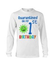 Quarantined On 1st My Birthday 1 years old Long Sleeve Tee thumbnail