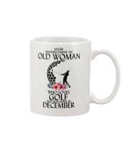 Never Underestimate Old Woman Golf December Mug thumbnail
