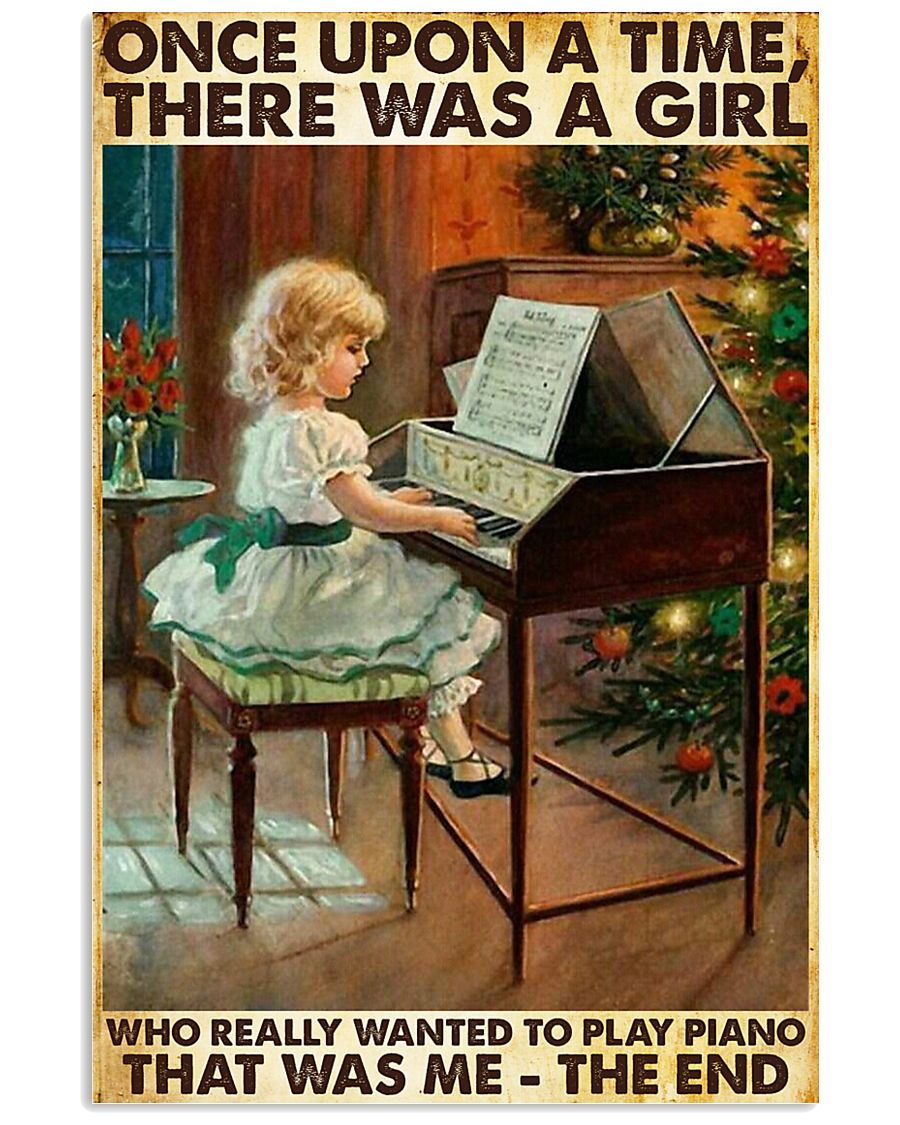 Once Upon A Time Piano Girl 24x36 Poster